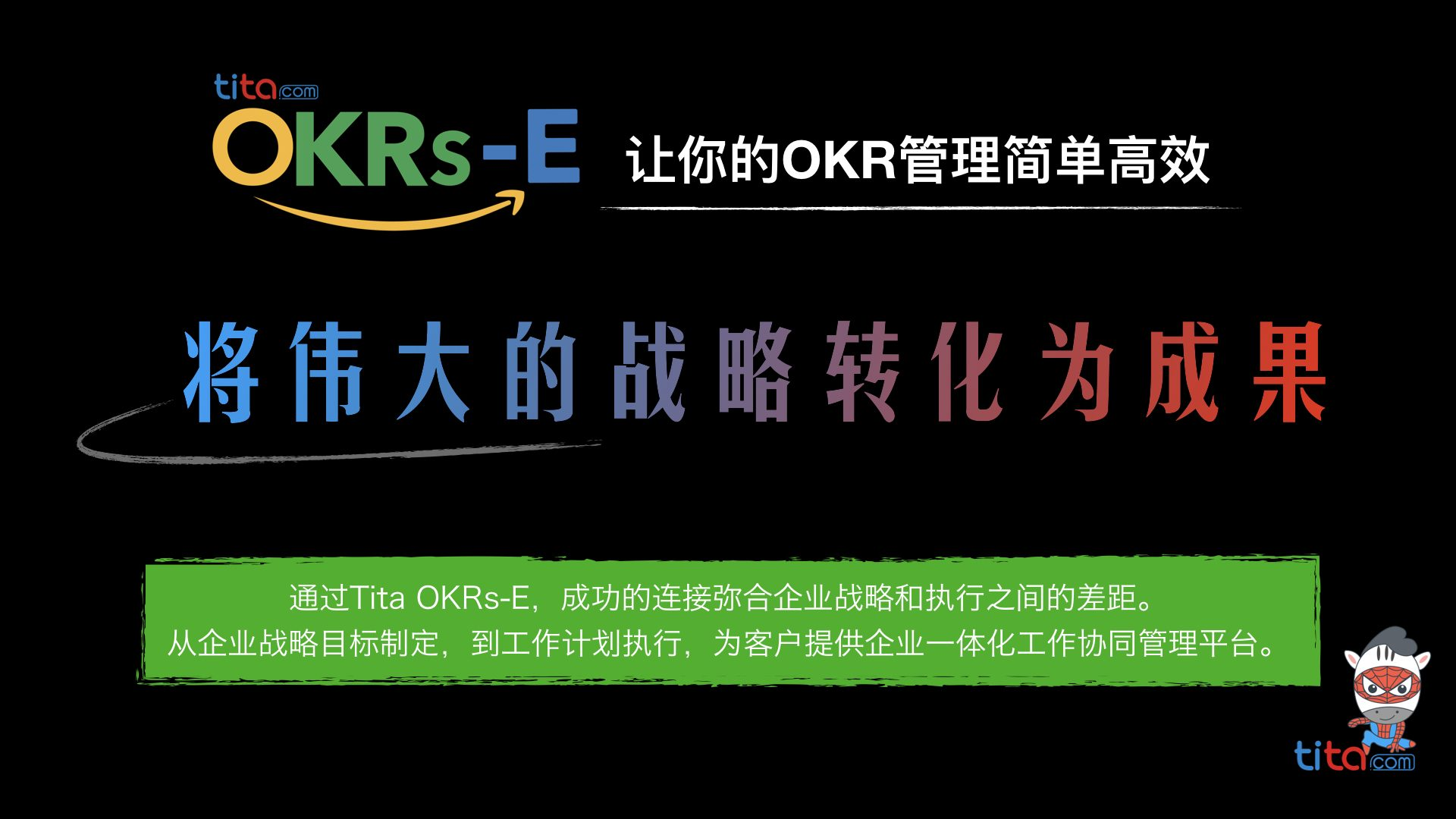 Tita《OKR目标执行管理》产品介绍 OKRs-E@2020