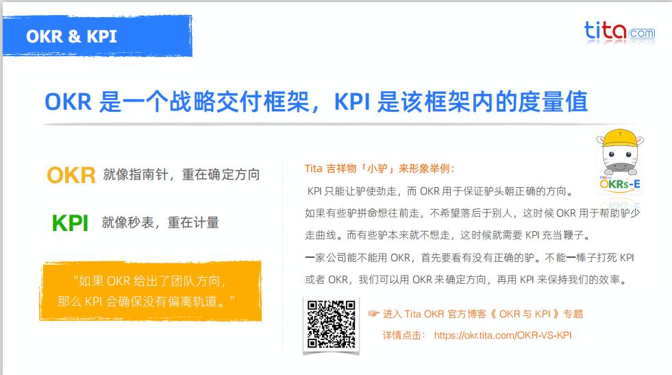 OKR与KPI的区别和联系