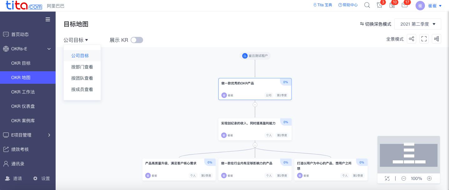 tita.com 升级 | OKR 地图和考核升级